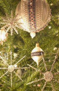 Spiderweb ornaments adorn MSI's Ukrainian tree