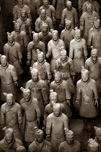 The Terracotta Army by SmokingPermitted via Flickr.