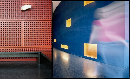 Red Wall/Blue Wall. Photos by Milka Varmola (left) and Niina Vatanen (right)—both of Finnish National Gallery—via Museum of Contemporary Art Kiasma's Flickr stream.